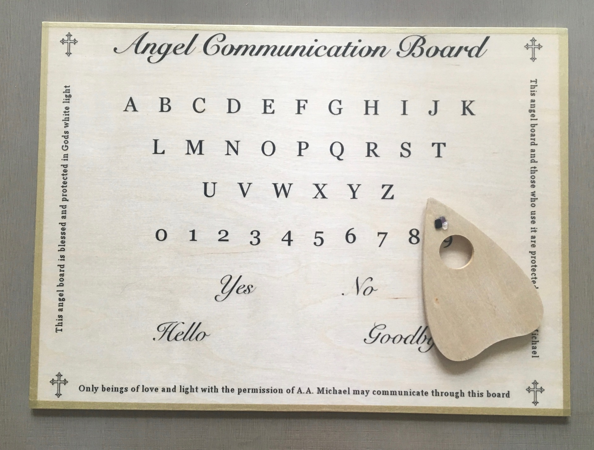 Angel Communication Board - Natural Birch
